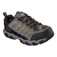 Men's Skechers Work Blais Steel Toe Lace Up Dark Gray