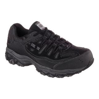 Men's Skechers Work Relaxed Fit Crankton Steel Toe Shoe Black/Charcoal