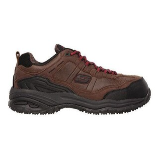 Men's Skechers Work Relaxed Fit Soft Stride Constructor II ST Dark Brown (More options available)