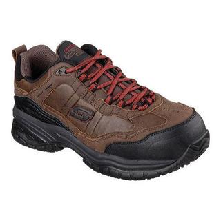 Men's Skechers Work Relaxed Fit Soft Stride Constructor II ST Dark Brown