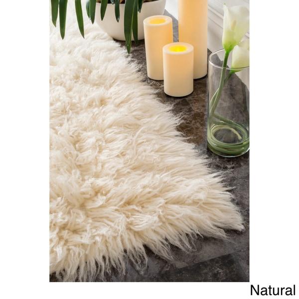 Shop Nuloom Hand Woven Alexa Flokati Wool Shag Rug 8 X