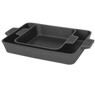 Bayou Classic 2 piece cast Iron Baking Pan Set|https://ak1.ostkcdn.com/images/products/10484691/P17573049.jpg?impolicy=medium