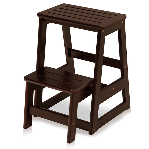 shop solid wood folding step stool free shipping today 10484702. Black Bedroom Furniture Sets. Home Design Ideas