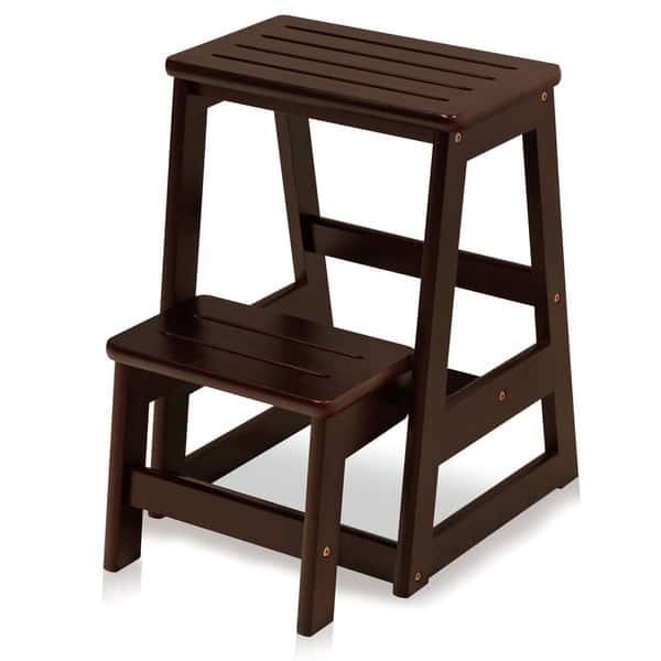 Magnificent Shop Solid Wood Folding Step Stool Free Shipping Today Forskolin Free Trial Chair Design Images Forskolin Free Trialorg