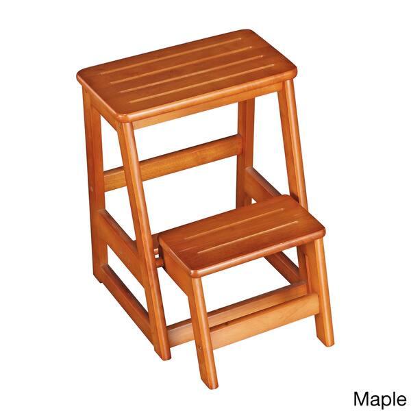 Amazing Shop Solid Wood Folding Step Stool Free Shipping Today Creativecarmelina Interior Chair Design Creativecarmelinacom