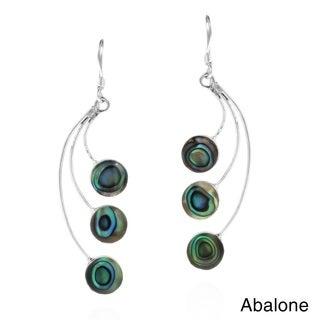 Dandelion Floating Stone .925 Sterling Silver Earrings (Thailand)
