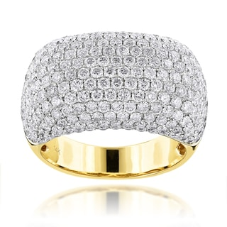 Luxurman 14k Gold 7ct TDW Round-cut Diamond Ring (F-G, VS1-VS2)