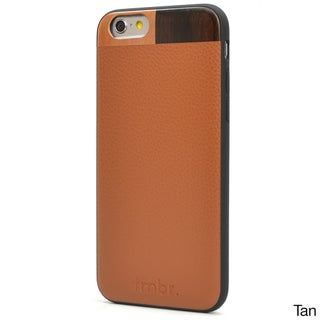 Tmbr. Leather/ Wood Phone Case for Apple iPhone 6 (Option: Tan Leather)