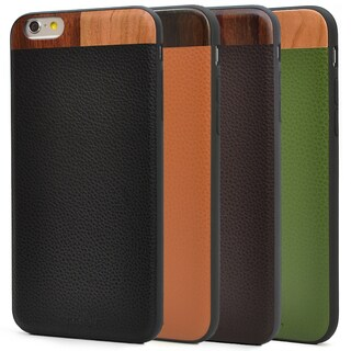 Tmbr. Leather/ Wood Phone Case for Apple iPhone 6 Plus