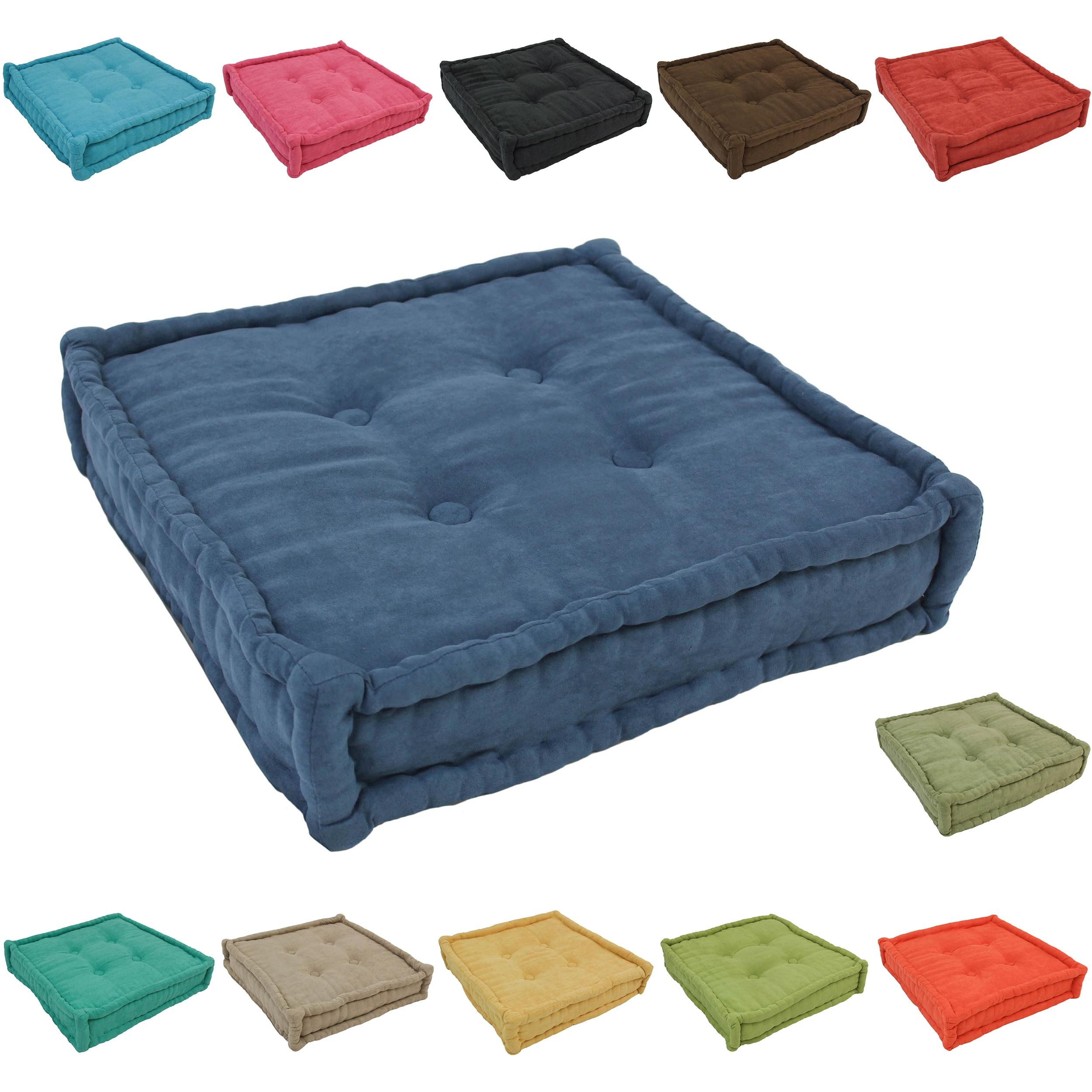 Blazing Needles 20-inch Microsuede Floor Pillow