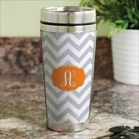 Chevron Initial personalized Travel Mug