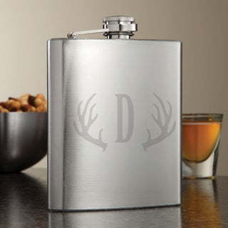 Antlers Personalized Flask