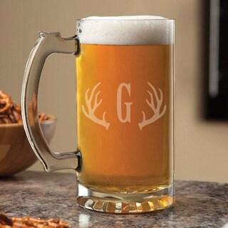 Antlers Personalized 16-ounce Beer Mug