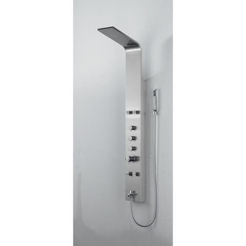 BOANN Stainless Steel Rainfall Adjustable 4-jet Shower Panel System