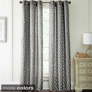 Deco Jacquard 84-Inch Curtain Panel Pair