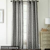 Amraupur Overseas Deco Jacquard 84-Inch Curtain Panel Pair - 37 x 84