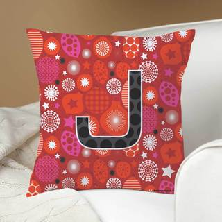 Robin Zingone Personalized Holiday Pillow-Red