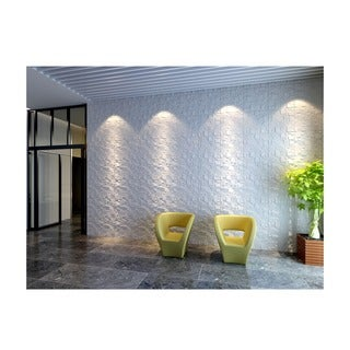 3D Wall Panels Plant Fiber Ice Design (10 Panels Per Box)