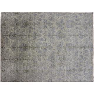 Oushak Saïd Grey Hand-knotted Rug (9'0 x 12'1)