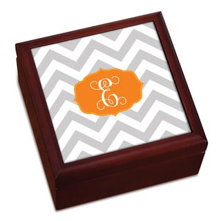 Chevron Initial Personalized Keepsake Box