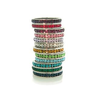 Eternally Haute Rhodium-plated Birthstone Crystal Eternity Band|https://ak1.ostkcdn.com/images/products/10485049/P17573362.jpg?impolicy=medium