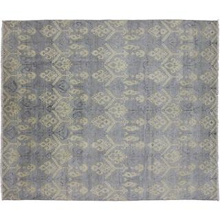 Oushak Oussa Blue Hand-knotted Rug (8'0 x 10'0)