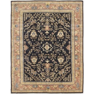 Peshawar Shahrizad Blue Hand-knotted Rug (8'10 x 11'9)