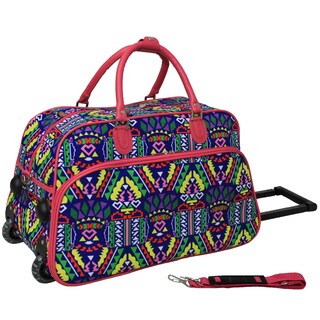 World Traveler Island 21-inch Carry-on Rolling Duffle Bag
