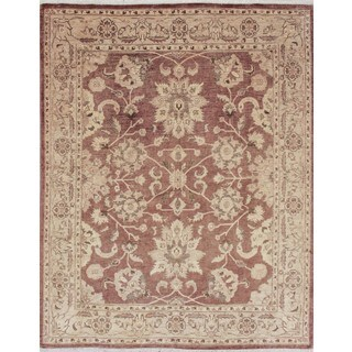 Peshawar Atefeh Chocolate Hand-knotted Rug (7'11 x 9'7)