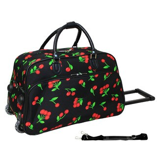 World Traveler Cherry 21-inch Carry-on Rolling Duffle Bag