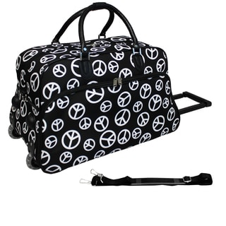 World Traveler Peace 21-inch Carry-on Rolling Duffle Bag