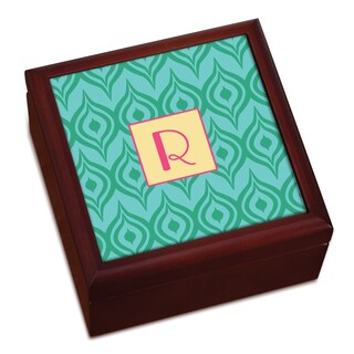 Green Ikat Personalized Keepsake Box (More options available)