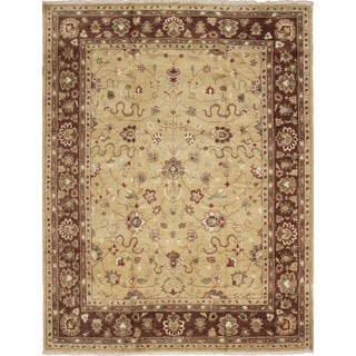 Peshawar Anas Gold Hand-knotted Rug (8'9 x 12'0)