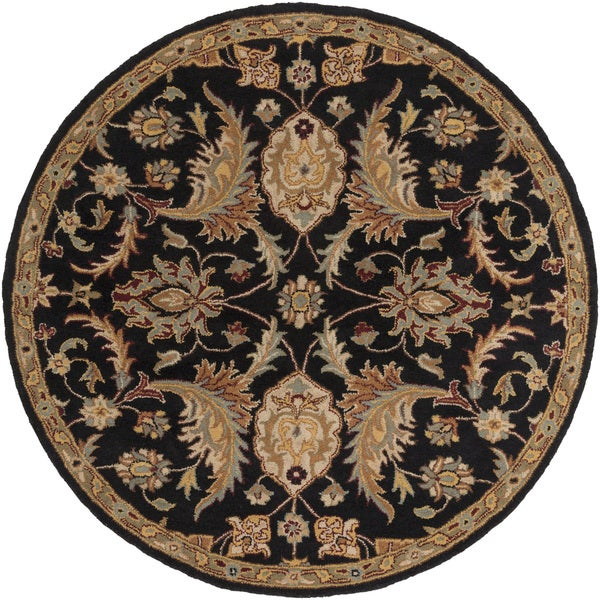 Hand-Tufted Alton Floral Wool Rug (3'6 Round)