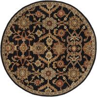 Hand-Tufted Acton Floral Wool Rug (3'6 Round)