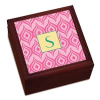 Pink Ikat Personalized Keepsake Box