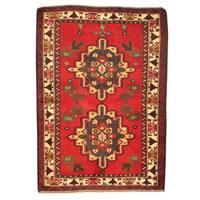 Herat Oriental Afghan Hand-knotted Tribal Balouchi Wool Rug - 3' x 4'4