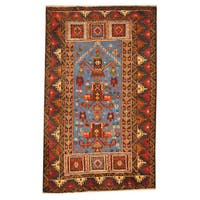 Herat Oriental Afghan Hand-knotted Tribal Balouchi Wool Rug (2'9 x 4'7) - 2'9 x 4'7