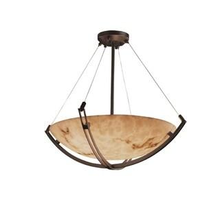 Justice Design Group LumenAria Crossbar 6-light Dark Bronze Pendant