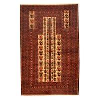 Herat Oriental Afghan Hand-knotted Tribal Balouchi Wool Rug - 3' x 4'8