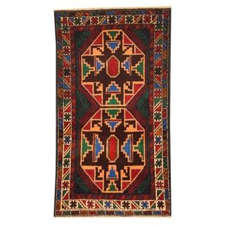 Herat Oriental Afghan Hand-knotted Tribal Balouchi Wool Rug (2'6 x 4'6)