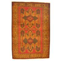 Herat Oriental Afghan Hand-knotted Tribal Balouchi Wool Rug - 3' x 4'5