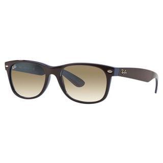 Ray-Ban Men's RB2132 Brown Plastic Square Sunglasses