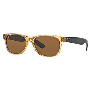 Ray-Ban Men's RB2132 Brown Plastic Square Polarized Sunglasses