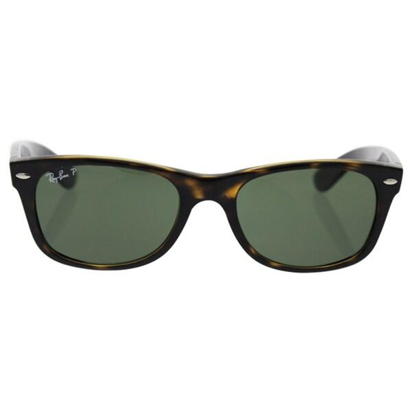 1d8da57554e Ray-Ban Men  x27 s RB2132 Tortoise Plastic Square Polarized Sunglasses