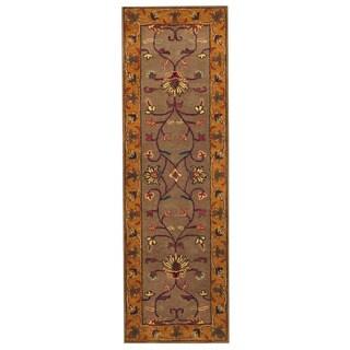 Handmade Herat Oriental Indo Mahal Wool Runner - 2'6 x 8' (India)