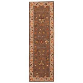 Herat Oriental Indo Hand-tufted Mahal Wool Runner (2'6 x 8')