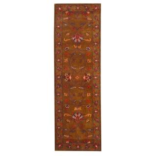 Herat Oriental Indo Hand-tufted Mahal Wool Runner (2'6 x 8'3)