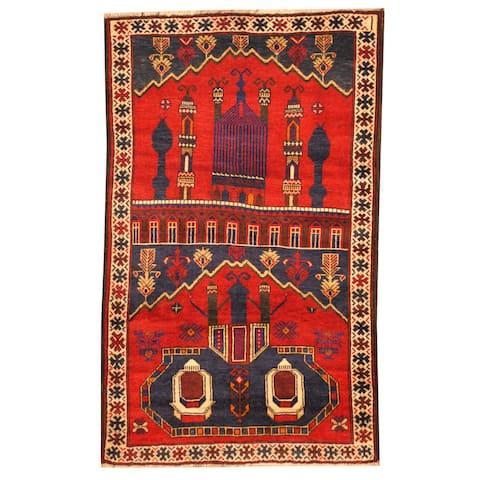 Handmade One-of-a-Kind Balouchi Wool Rug (Afghanistan) - 2'9 x 4'9