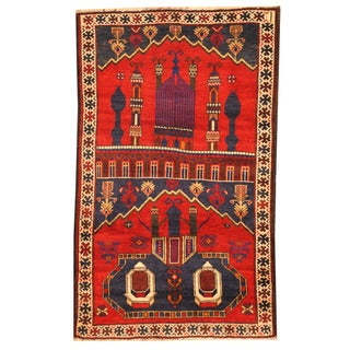 Handmade One-of-a-Kind Balouchi Wool Rug (Afghanistan) - 2'9 x 4'9